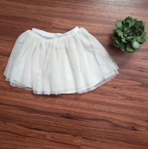 Cream Tutu Skirt Girls 5 💥5/$20💥